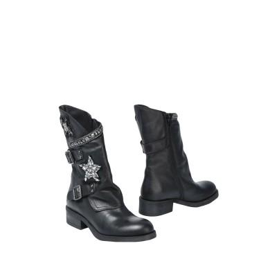 GET IT ショートブーツ ブラック 37 100% 牛革(カーフ) ショートブーツ