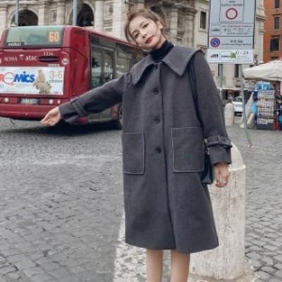 アウター レディース コート ロングコート レディース 膝下丈 長袖 スリット 大きいサイズ カジュアル オフィス シンプル きれいめ 羽織