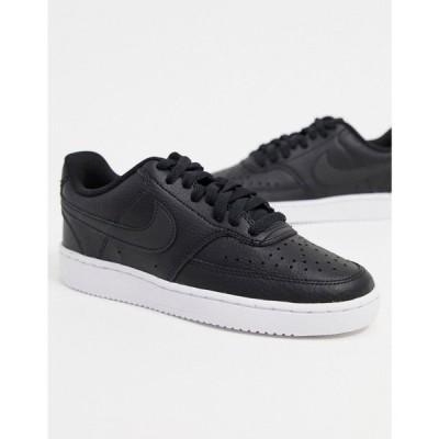 ナイキ Nike レディース スニーカー シューズ・靴 Court Vision Low trainers in white & black
