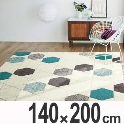 ラグ カーペット 2畳 スミノエ ハニカムドロップ 140×200cm ( 送料無料 ラグマット 絨毯 じゅうたん 北欧 おしゃれ 滑り止め 吸湿