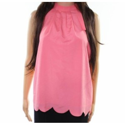 Maison  ファッション トップス Maison Jules NEW Pink Womens Size Medium M Pleated Halter Blouse