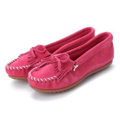 ミネトンカ Minnetonka KILTY Suede Moccasin Shoes (ピンク)