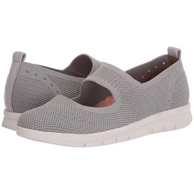 Comfortiva Carlene レディース フラットシューズ Light Grey Knit Mesh