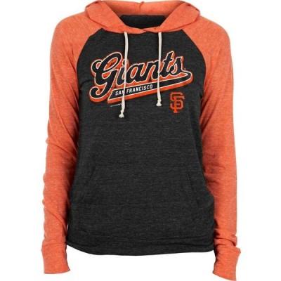 ニューエラ New Era レディース パーカー トップス San Francisco Giants Black Tri-Blend Pullover Hoodie