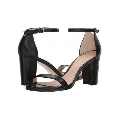 Stuart Weitzman スチュアートワイツマン レディース 女性用 シューズ 靴 ヒール Nearlynude Ankle Strap City Sandal - Black Nappa
