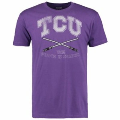 Tailgate Clothing Company テールゲート クロージング カンパニー スポーツ用品  TCU Horned Frogs Purple The Force Star Wars T-Shirt