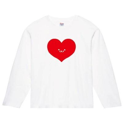 ハート トランプ 記号 図形 筆絵 イラスト 長袖Tシャツ