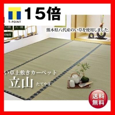 純国産 い草 上敷き カーペット 糸引織 本間1畳(約95×191cm) 熊本県八代産イ草使用
