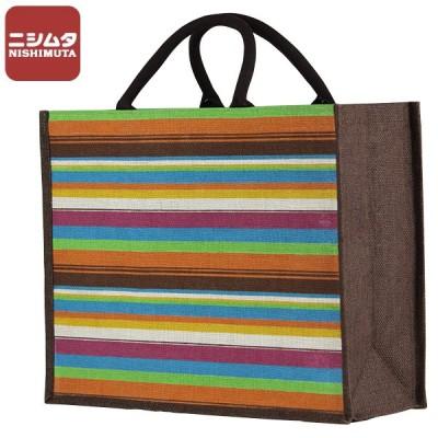 エコバック トートバッグ お手軽 3950-B ロープハンドル ジュートバッグ ショッピングバッグ マイバッグ  おしゃれ