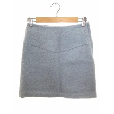 【中古】スピック&スパン Spick&Span スカート 台形 ミニ ウール 36 水色 /AU レディース