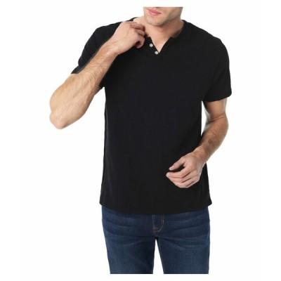 ジョーズジーンズ シャツ トップス メンズ Wintz Short Sleeve Slub Henley Black 2