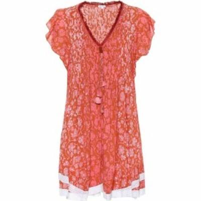 プーペット セント バース Poupette St Barth レディース ワンピース ミニ丈 ワンピース・ドレス Mila floral-printed mini dress Orange