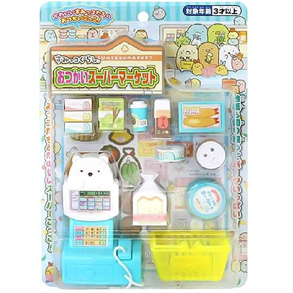 小禮堂 角落生物 超市收銀機玩具 購物玩具 益智玩具 扮家家酒 (藍 購物) 4902923-15051