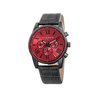 Akribos XXIV Men's Multi-Function Watch - 3 Subdials Day, Date, & GMT On Su