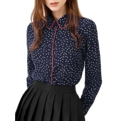 レディース 衣類 トップス Women's Button Down Polka Dot Shirt ブラウス&シャツ