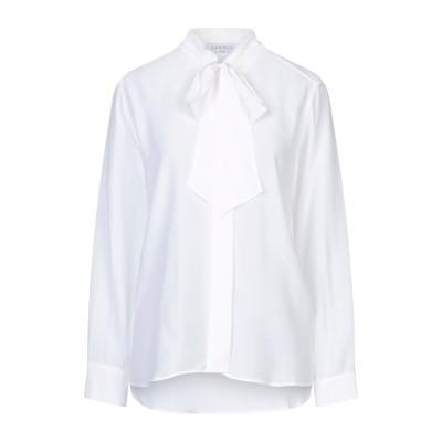 SANDRO シャツ ホワイト 1 シルク 100% シャツ