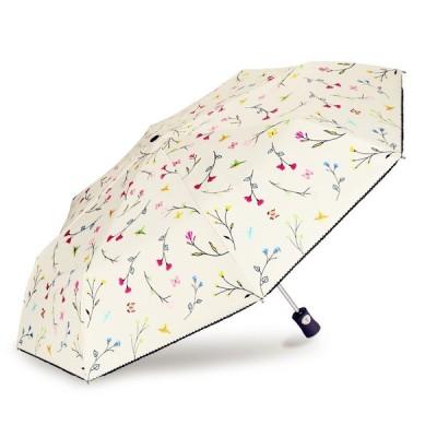 Cuby 日傘 自動開閉 折りたたみ傘 レディース傘 晴雨兼用 UVカット 加工済み 完全遮光 紫外線遮蔽率99% 高密度NC布 8本骨 耐