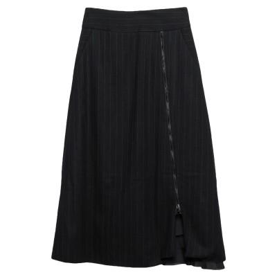 EVEN IF 7分丈スカート ブラック 40 コットン 56% / バージンウール 44% 7分丈スカート