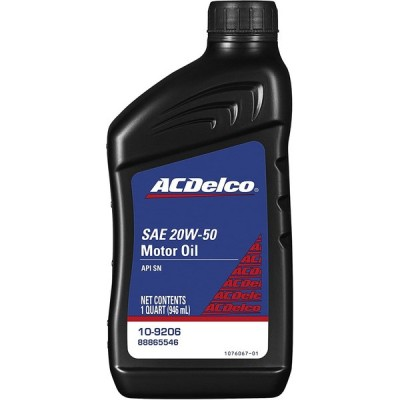 ACDelco 109206Professional 20W50Conventionalモーターオイル1Qt
