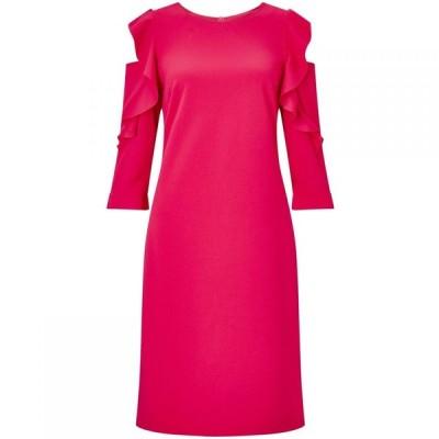 ジュームズ レイクランド James Lakeland レディース パーティードレス ワンピース・ドレス Ruffle three quarter Sleeve Dress Coral