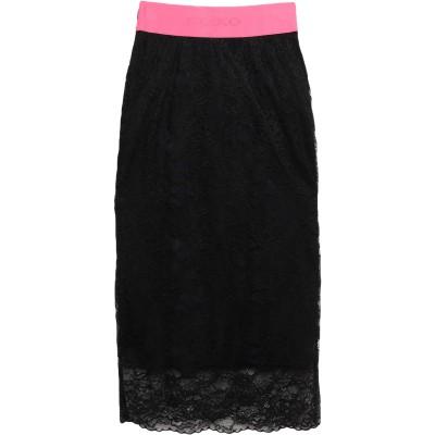 ピンコ PINKO 7分丈スカート ブラック 40 ナイロン 88% / ポリウレタン 12% / ゴム 7分丈スカート
