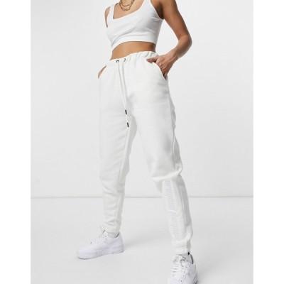 クリミナル Criminal Damage レディース ジョガーパンツ ボトムス・パンツ Oversized Joggers In Off White オフホワイト
