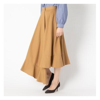 【エリオポール/HELIOPOLE】 HELIOPOLE 《MORE SALE》ハイツイストコットンギャバ アシメラップスカート