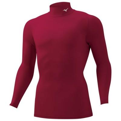 スポーツ用インナー ミズノ バイオギアシャツ(ハイネック長袖) メンズ S 63(エンジ)