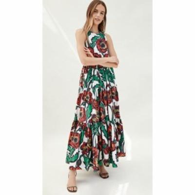 ラダブルジェー La Double J レディース ワンピース ノースリーブ ワンピース・ドレス Sleeveless Big Dress Big Blooms Bianco