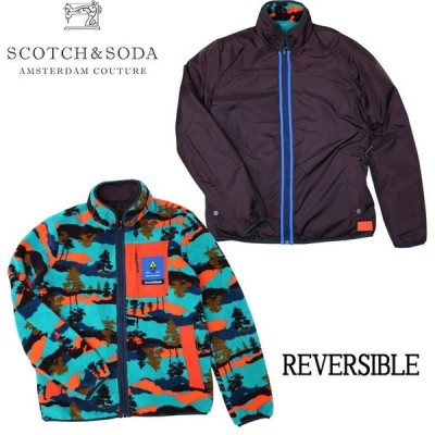 【SCOTCH&SODA】スコッチアンドソーダ Colourful reversible fleece jacket リバーシブルジャケット ライトアウター カラフル 秋冬