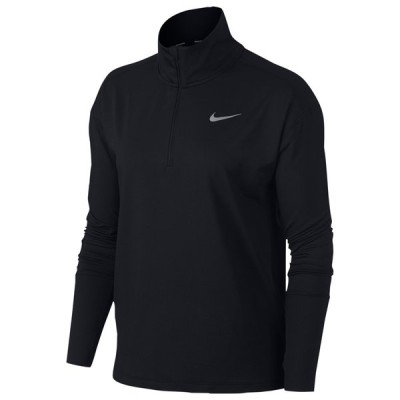 ナイキ Nike レディース フィットネス・トレーニング ハーフジップ トップス Element 1/2 Zip Top Black Reflective Silver