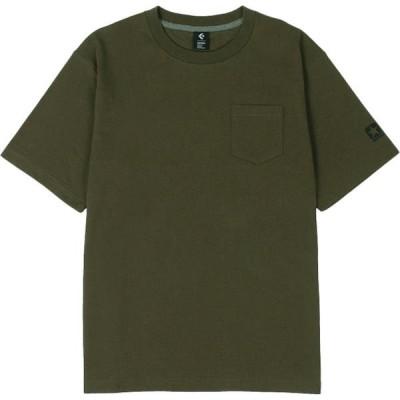 CONVERSE コンバース マルチスポーツ クルーネックTシャツ 20SS カーキ Tシャツ(ca292320-3400)
