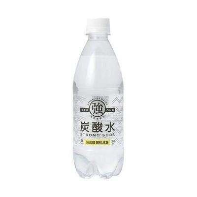 友桝飲料 強炭酸水レモン 500mlペットボトル×24本入×(2ケース)