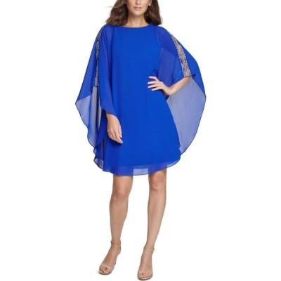 ヴィンス カムート Vince Camuto レディース ワンピース ワンピース・ドレス Embellished A-Line Dress Cobalt Blue