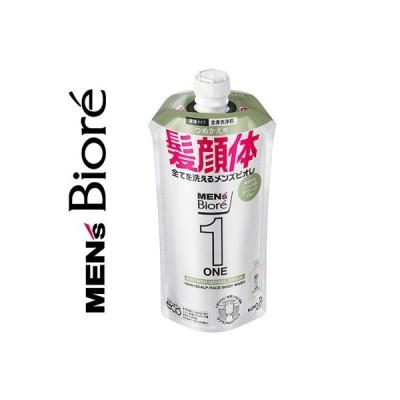 メンズビオレ ONE オールインワン 全身洗浄料 ハーバルグリーンの香り 詰替用 340mL / 花王 ビオレ