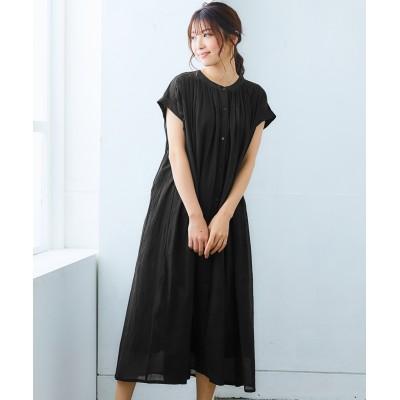 インド綿ギャザーワンピース (ワンピース)Dress