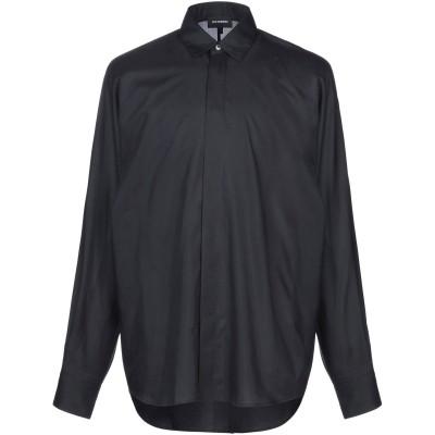LES HOMMES シャツ ブラック 54 コットン 55% / シルク 45% シャツ