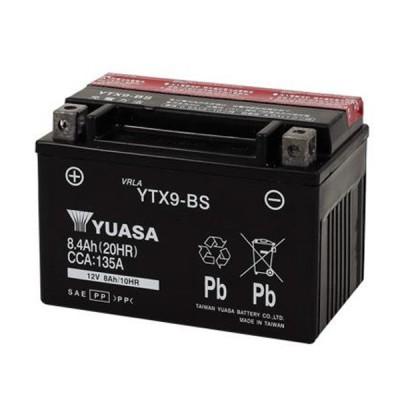 YTX9-BS 台湾YUASA 12V高品質シールド・バイク用バッテリー(電解液注入済タイプ)