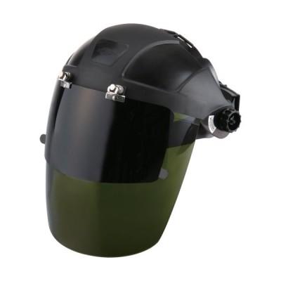 トーヨーセフティー セフティーIR 3次元曲面レンズフェースシールド グリーン 直被り型/ダブルレンズ No.1170-GB