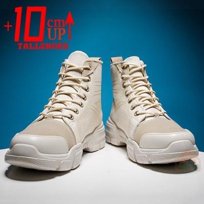 背が高くなるシークレットシューズ厚底レジャー靴 身長10cm UP 誰にもバレずに身長アップ   滑り止  通気   軽量  レジャー靴  衝撃 吸収 厚底 マーティン靴