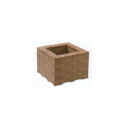 システムレンガで作る システム鉢カバー 10号用 ブラウン 大和プラスチック (法人個人選択)