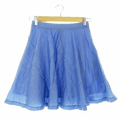 【中古】ロペピクニック ROPE Picnic スカート フレア ミニ 36 青 ブルー /AAM15 レディース