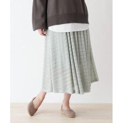SHOO・LA・RUE(シューラルー) レースロングフレアスカート