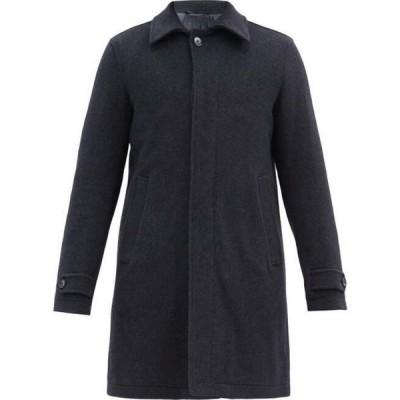 ヘルノ Herno メンズ コート アウター Quilted-Lining Wool-Blend Coat Navy