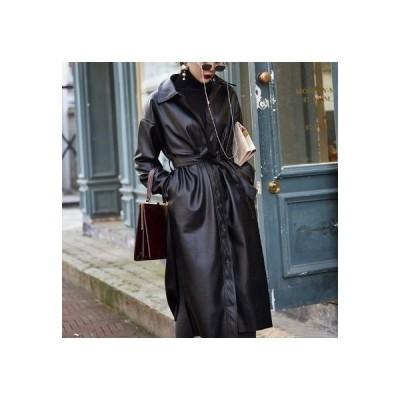 チェスターコート ロングコート アウター レディース 秋 コート 40代 30代 ウエストマーク きれいめ 暖かい 長袖 韓国風 お洒落 通勤 ポケット付き