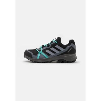 アディダス シューズ レディース ハイキング TERREX LITESKY GORE-TEX - Hiking shoes - core black/halo silver/acid mint
