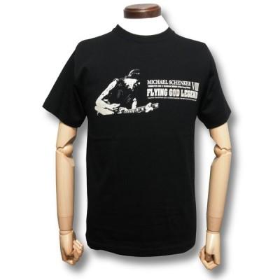 Tシャツ FLYING GOD伝説〜第8章 マイケル・シェンカー祭 MICHAEL SCHENKER DEAN  ロック 黒 メンズ