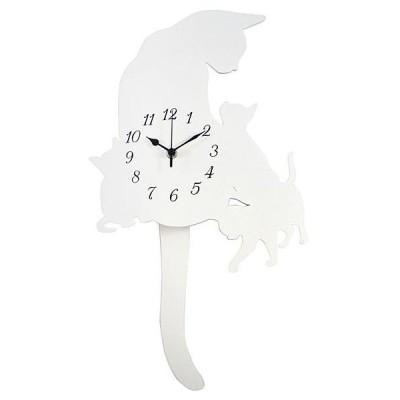 振子時計 スロー振り子時計 猫 ネコ 壁掛け時計 オフィス 壁掛時計 おしゃれ 北欧 アメリカン雑貨 かわいい インテリア時計 ギフト dtrg