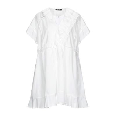 ツインセット シモーナ バルビエリ TWINSET ミニワンピース&ドレス ホワイト XS コットン 100% ミニワンピース&ドレス