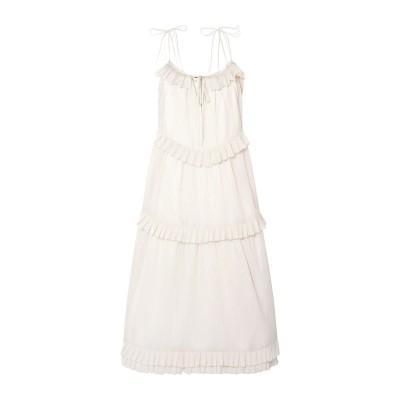 MAGGIE MARILYN ロングワンピース&ドレス アイボリー 14 コットン 78% / シルク 22% ロングワンピース&ドレス